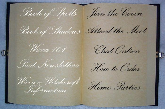 To visit a page, click the section of the Book of Shadows you want to visit